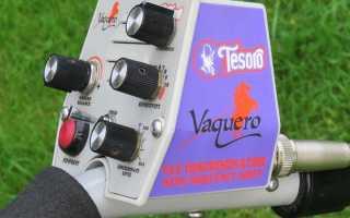 Tesoro Vaquero: подробный обзор металлодетектора