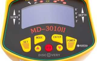 MD 3010 II: подробный обзор, характеристики, видео с тестами и с находками, отзывы владельцев