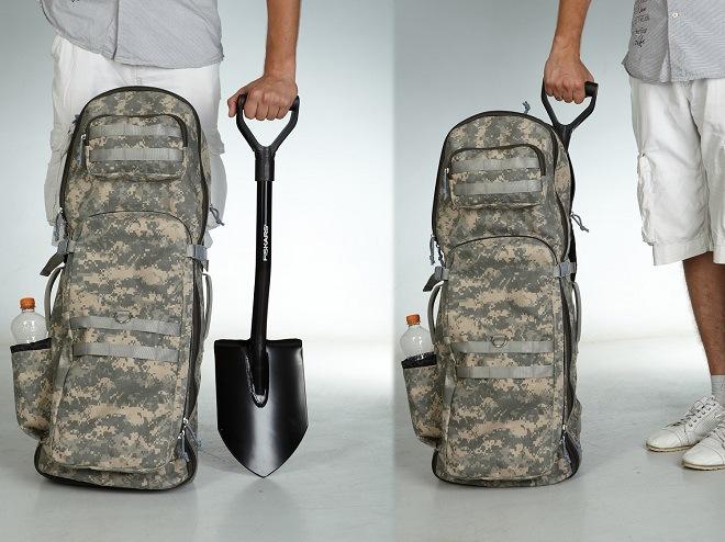 Лопата и сумка